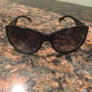 Coach sunglasses black with Silver
